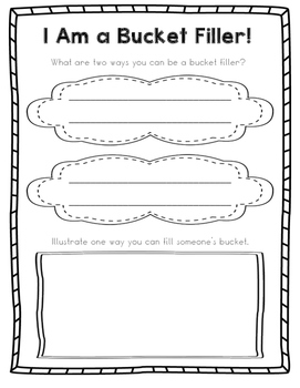 Bucket Filling - Writing Prompt and Craftivity