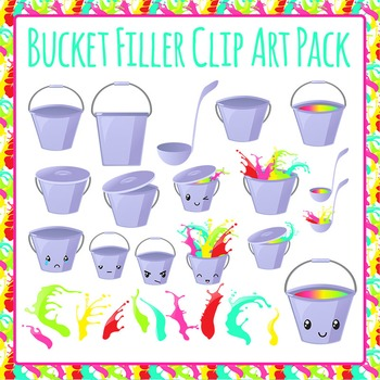 Bucket Filling and Fillers Clip Art Pack for Commercial Use