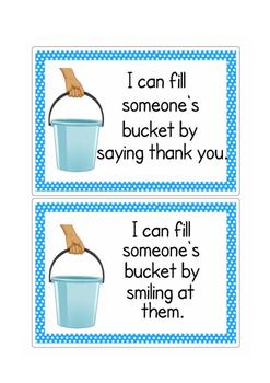 Bucket Filling idea cards
