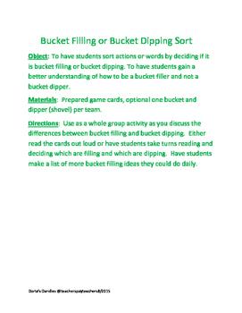 Bucket Filling or Bucket Dipping Sort