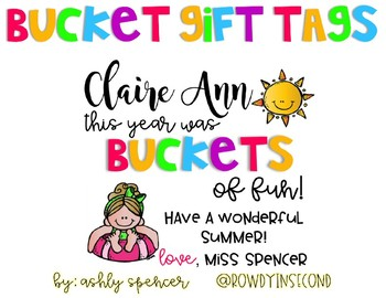 Bucket Gift Tags - End of Year