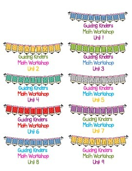 Bucket Labels for Guiding Kinders Math Workshop