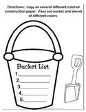 Bucket List Bulliten Board Template