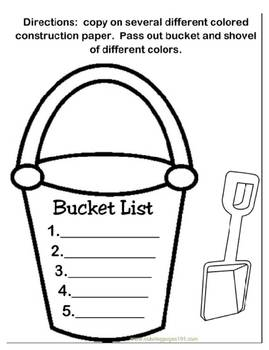 Bucket List Bulliten Board Template