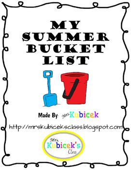 Bucket List Craftivity