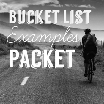 Bucket List Examples Packet