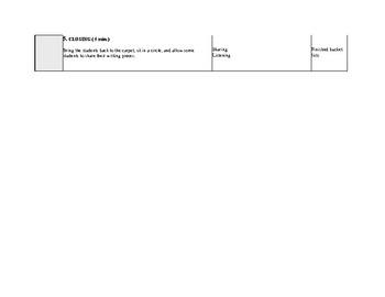 Bucket List Lesson Plan