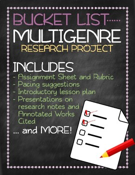 Bucket List Multigenre Research Project