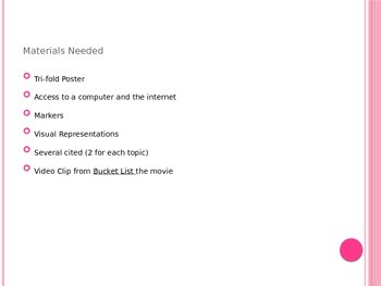 Bucket List Project Power Point
