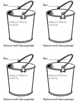 Bucket Message from Teacher