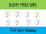 Bucket Pencil Labels