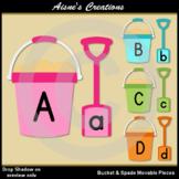 Bucket & Spade Alphabet Movable Pieces