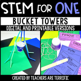 Bucket Towers STEM for One - Distance Learning