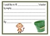 Bucket filler form - monkey theme