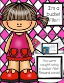 Bucket filler reward cards - special classroom jobs
