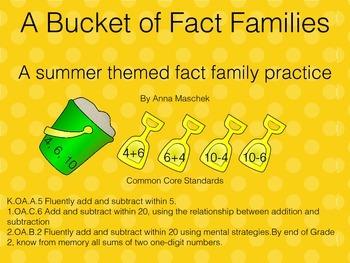 Bucket of Fact Families