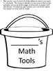 Bucket of Math Fun - Math Tools - Interactive Notebook - Centers