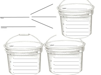 Bucketing Writing Organizer