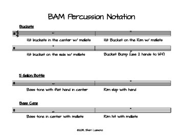 Buckets and More Percussion Notation