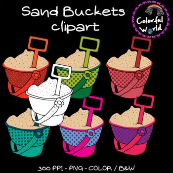 Summer - Buckets clipart