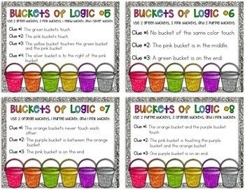 Buckets of Logic Problem Solving {Logic Puzzles}