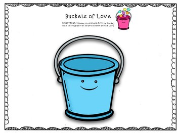 Buckets of Love Preschool Counting Game