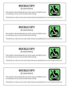 Buckle Up Flyer