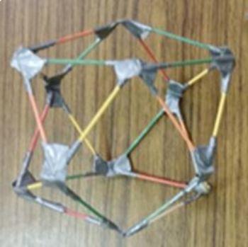 Buckminster Fuller's Jitterbug with toothpicks