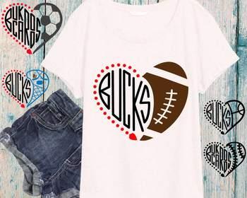 Bucks Milwaukee Sport SVG NFL nba mlb ncaaf Cheer Buckaroos 902S