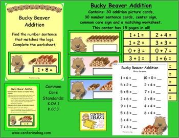Bucky Beaver Addition (K.OA.1, K.CC.3)