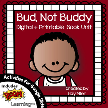Bud, Not Buddy [Christopher Paul Curtis] Book Unit