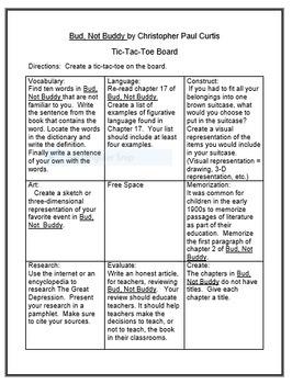 Bud, Not Buddy Literature Circle Workbook