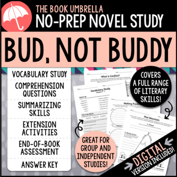 Bud Not Buddy Test Worksheets Teaching Resources TpT