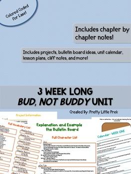 Bud Not Buddy Unit Plan