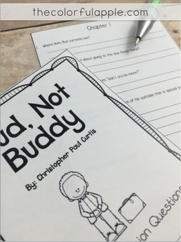 Bud, Not Buddy: A Novel Study