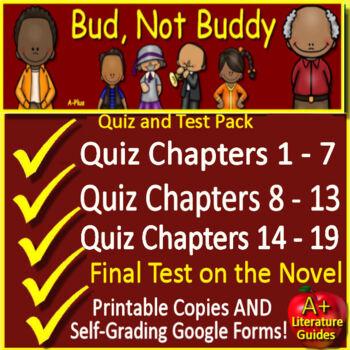Bud, Not Buddy Novel Study Test Bundle Common Core Aligned