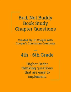 Bud, Not Buddy Book Study Chapters 1 - 19