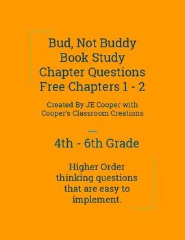 Bud, Not Buddy Book Study Chapters 1 - 2 Free