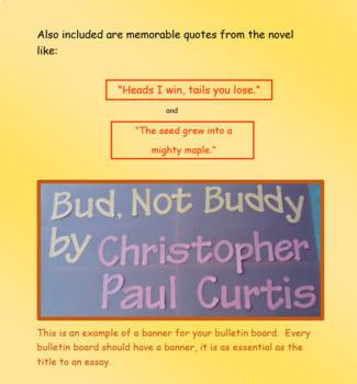 Bud, Not Buddy Bulletin Board