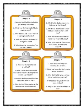 Christopher Paul Curtis BUD, NOT BUDDY - Discussion Cards