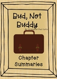 Bud, Not Buddy - Chapter Summaries for Differentiated Learning
