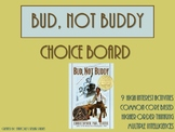 Bud, Not Buddy Choice Board Tic Tac Toe Novel Activities M