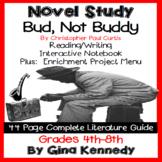 Bud, Not Buddy Novel Study & Enrichment Project Menu