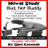 Bud, Not Buddy Novel Study & Enrichment Project Menu