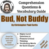 Bud, Not Buddy Comprehension Questions and Vocabulary Guide