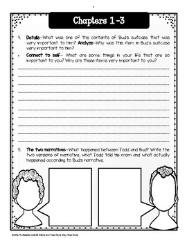 Bud Not Buddy - Comprehension and Vocabulary Unit