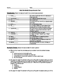 Bud, Not Buddy Comprehension test-Chapters 1-3