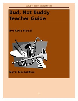 Bud, Not Buddy Deluxe Comprehensive Unit- Teacher/Student Guide