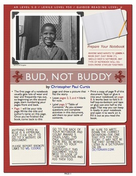 Bud, Not Buddy Interactive Book Project