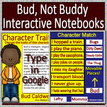 Bud Not Buddy Interactive Notebook Worksheets TpT